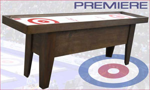 premiere curling table mahogany